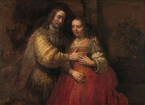 Rembrandt, Isaac and Rebecca, known as The Jewish Bride, c. 1665. Amsterdam, Rijksmuseum. on Ioan from The City of Amsterdam (A. van der Hoop Bequest)