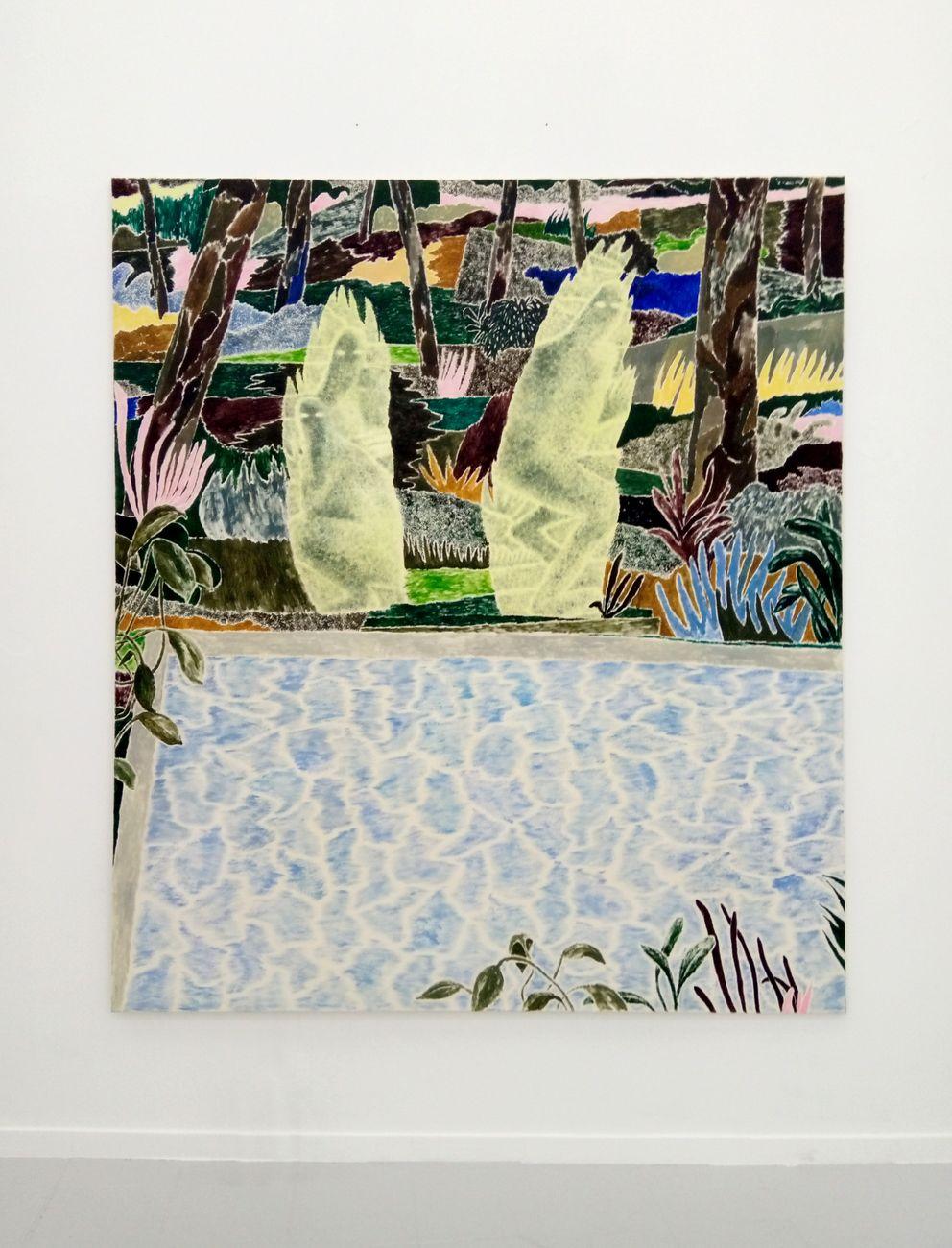 Andrea Barzaghi, Apparizione, 2019, olio su tela, 220x195 cm