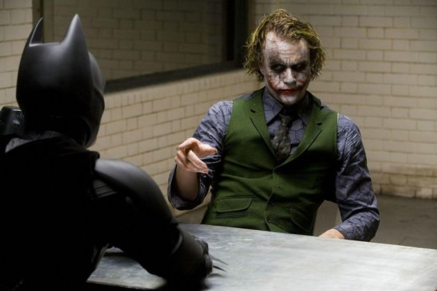 Batman e Joker in The Dark Knight (Christopher Nolan, 2008)