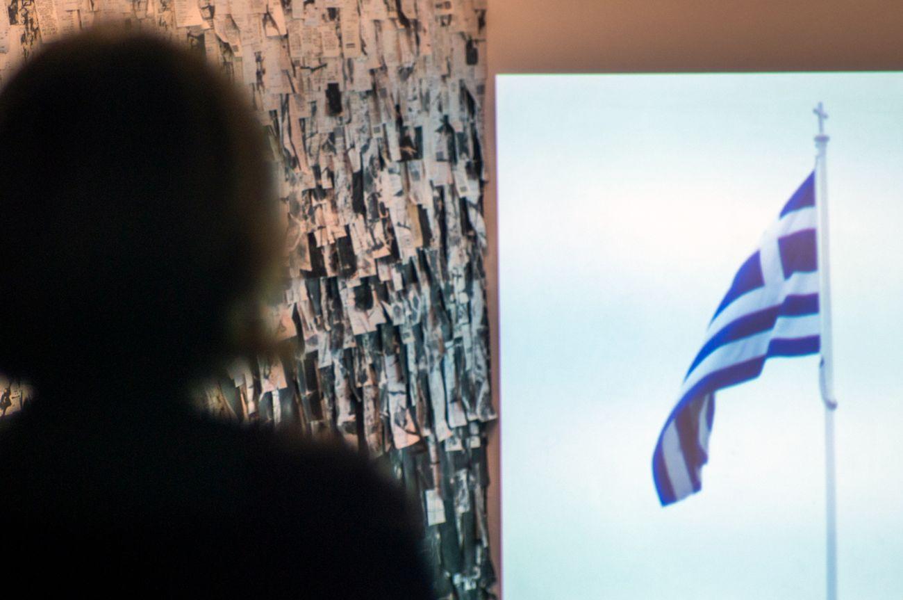 Chiara Bevilacqua - Yorgos Zois. La Conta. Installation view at Kunstschau Contemporary Place, Lecce. Photo Grazia Amelia Bellitta