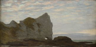 Claude Monet, Étretat, 1864 ca. Collection Association Peindre en Normandie, Caen