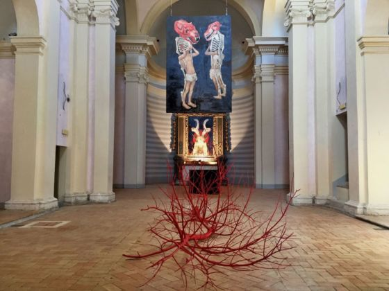 Desiderio. Malebolge. Exhibition view at Chiesa di Sant'Angelo, Amelia 2019