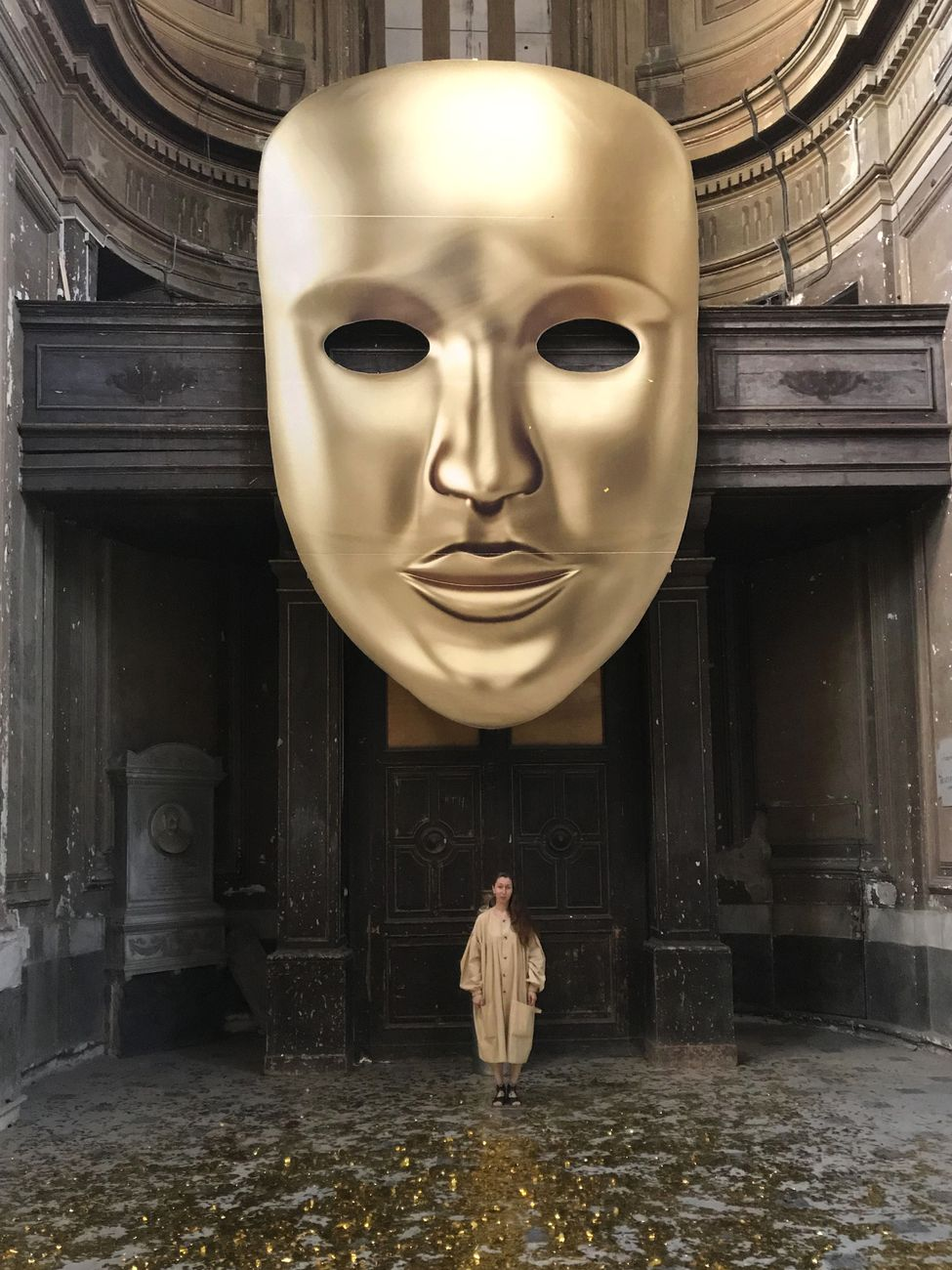 Evgeny Antufiev. Dead Nations. Golden Age Version. Installation view at Chiesa di San Giuseppe delle Scalze, Napoli 2019