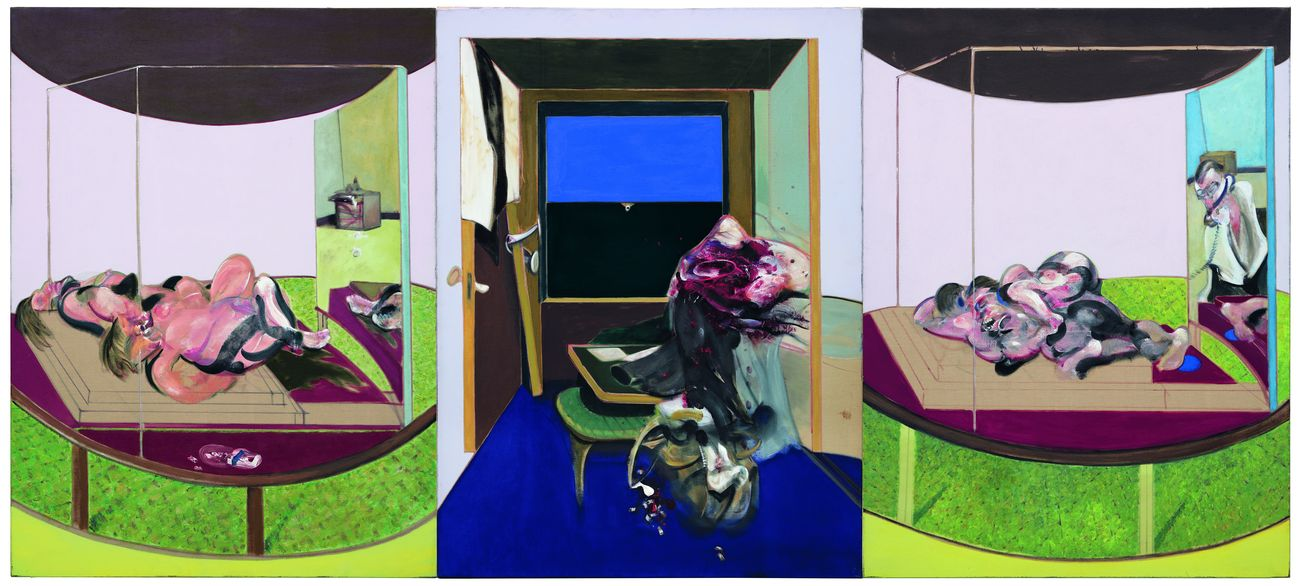 Francis Bacon, Triptych inspired by T.S Eliot's poem, Sweeney Agoniste, 1967. Hirshhorn Museum and Sculpture Garden - Smithsonian Institution, Washington © The Estate of Francis Bacon / Adagp, Paris & DACS, London 2019. Photo Cathy Carver