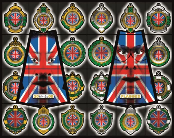 Gilbert & George, Flagged, 2008. Courtesy Astrup Fearnley Museet, Oslo