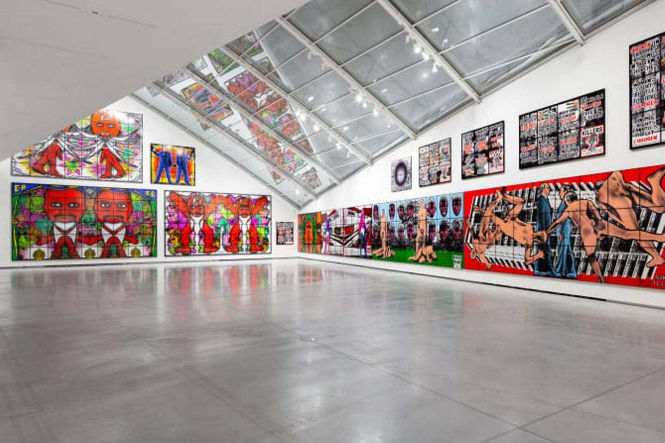 Gilbert & George. The Great Exhibition. Installation view at Astrup Fearnley Museet, Oslo 2019. Photo Christian Øen