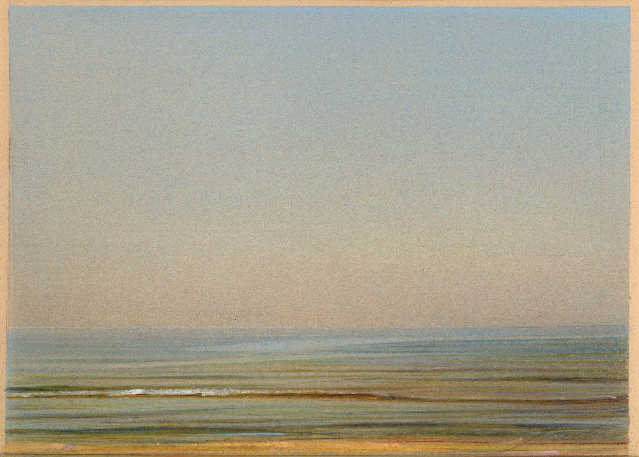 Piero Guccione, Piccola spiaggia, 2001, pastello cm 17x24