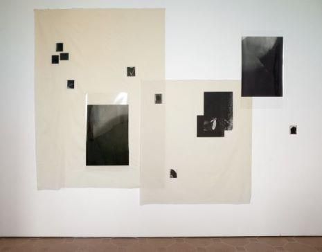 Henrik Strömberg, When and whereabouts, installation - serigraph on paper, films, Polaroid, pigment, canvas, 2019, ph. © Henrik Strömberg