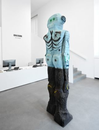 Huma Bhabha. The Company. Installation view at Gagosian, Roma 2019. Photo Matteo D'Eletto, M3 Studio. Courtesy Gagosian