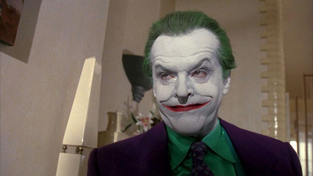 Jack Nicholson in Batman (Tim Burton, 1989)