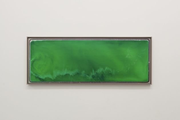 Mishka Henner, SRP Mesquite Generating Station 1, 2018, inkjet print mounted to dibond in floating frame with non reflective glass, cm 62x169. Courtesy Galleria Bianconi, Milano. Photo T. Doria