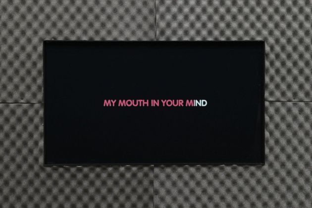 Marco Giordano. My mouth in your mind. Installation view at Frutta Gallery, Roma 2019