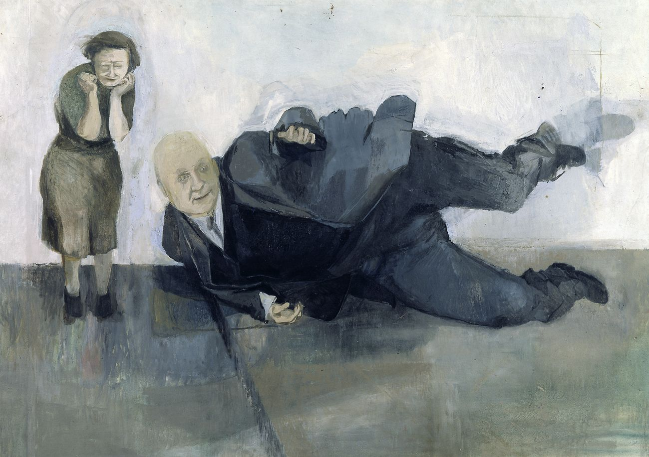 Michael Andrews, A Man who Suddenly Fell Over, 1952. Tate © The Estate of Michael Andrews, courtesy James Hyman Gallery, London. Photo © Tate, 2019
