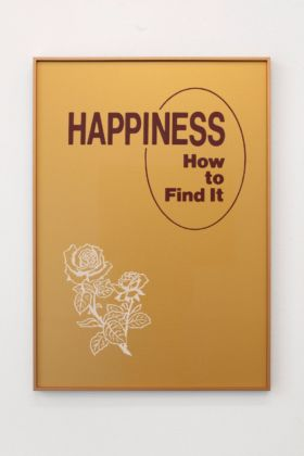 Mishka Henner, Happiness. How To Find It, 2019, two colour screenprint, cm 84x59,4. Courtesy Galleria Bianconi, Milano. Photo T. Doria