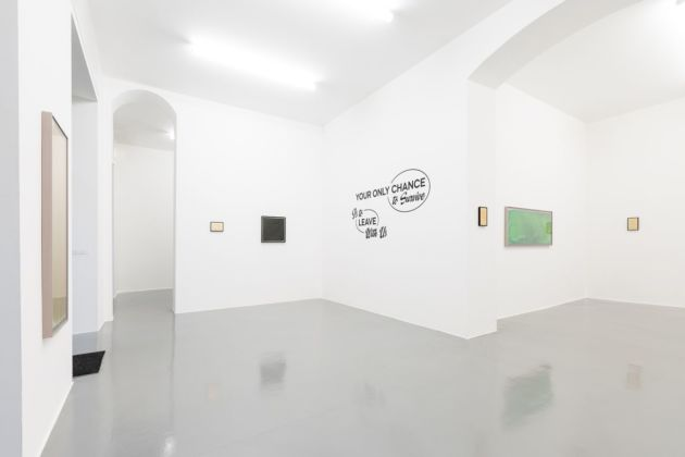 Mishka Henner. Your only chance to survive i s to leave with us. Installation view at Galleria Bianconi, Milano 2019. Photo T. Doria