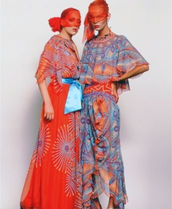 Models wearing garments from Zandra Rhdoes AW 1976 77 'Mexican' collection