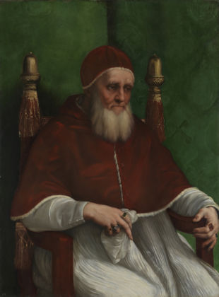Raphael Portrait of Pope Julius II 1511 Oil on poplar 108.7 x 81 cm © The National Gallery, London