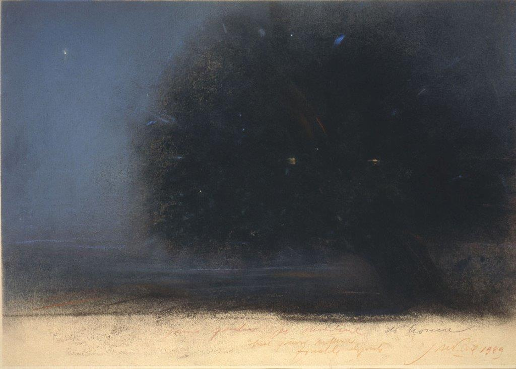 Piero Guccione, Albero del siparietto, 1989, collezione Iannaccone