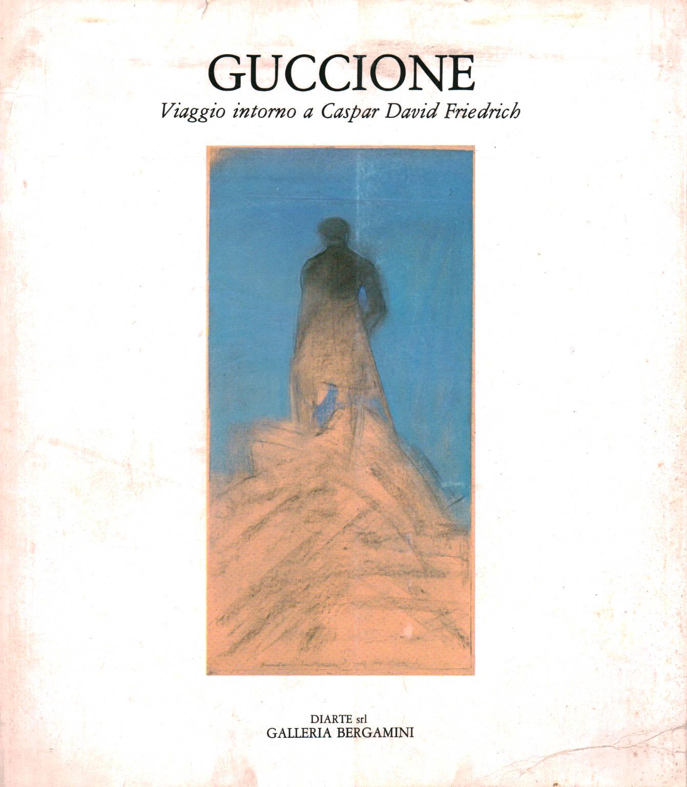 Piero Guccione, il catalogo della mostra su Friedrich alla Galleria Bergamini di Milano, 1984