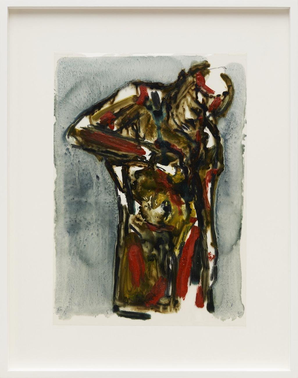 Piero Manai, Figura, 1984, tecnica mista su acetato, cm. 30x21, Courtesy P420 & CAR DRDE, Bologna. Photo Carlo Favero