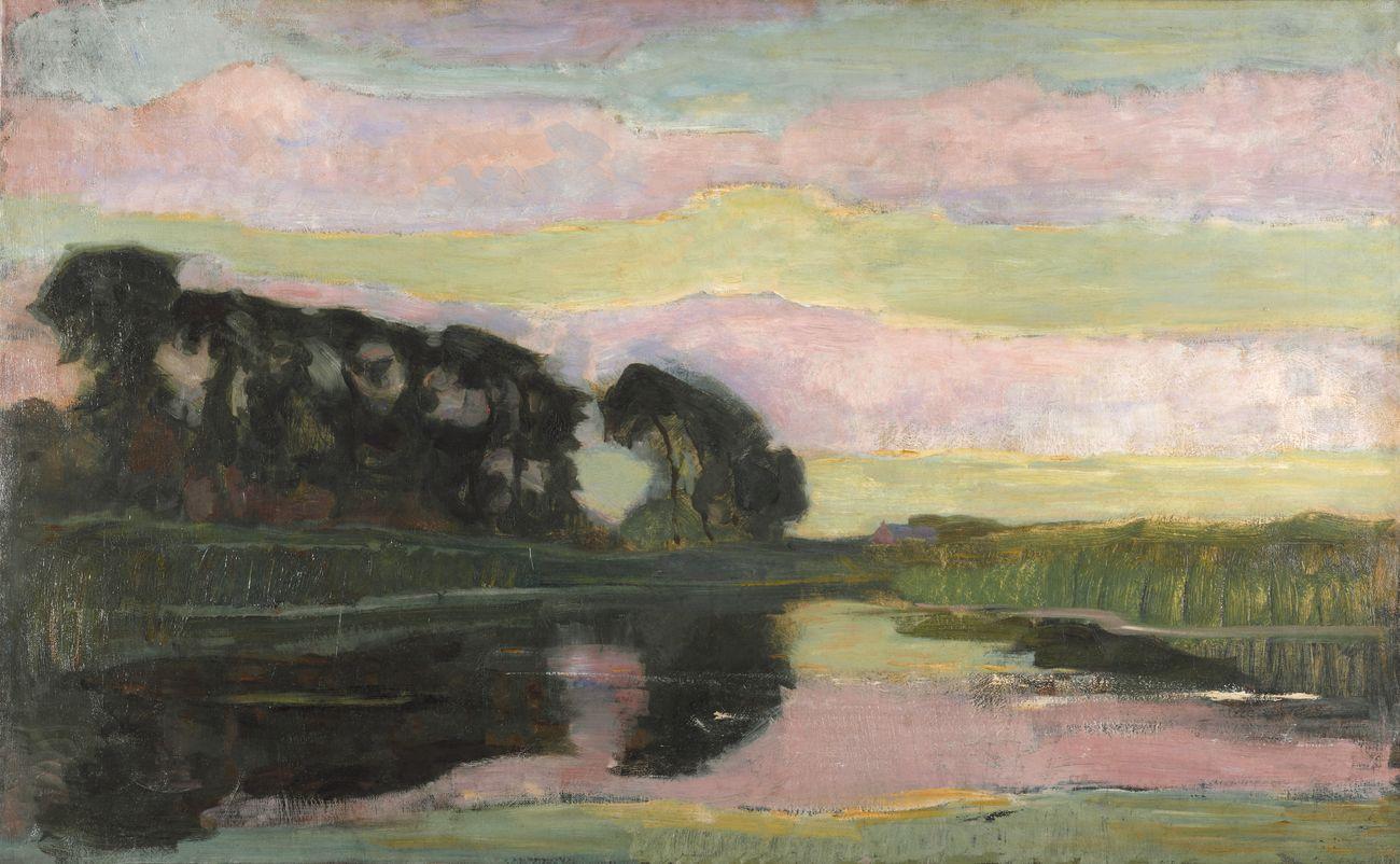 Piet Mondrian, Grande paesaggio, 1907-08 ca. © Kunstmuseum Den Haag, L'Aja