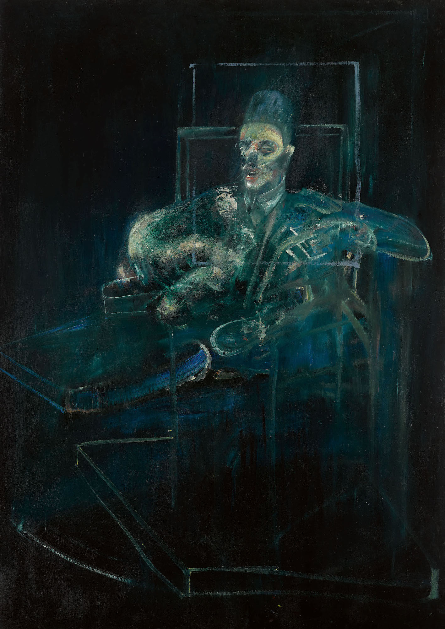 Property from the Brooklyn Museum, Sold to Support Museum Collections Francis Bacon Pope Oil on canvas 77⅛ by 55⅞ in. 195.9 by 141.9 cm. Executed circa 1958. Estimate $6:8 million. Courtesy Sotheby's