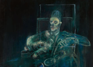 Property from the Brooklyn Museum, Sold to Support Museum Collections Francis Bacon, Pope (detail). Oil on canvas 77⅛ by 55⅞ in. 195.9 by 141.9 cm. Executed circa 1958. Estimate $6:8 million. Courtesy Sotheby's
