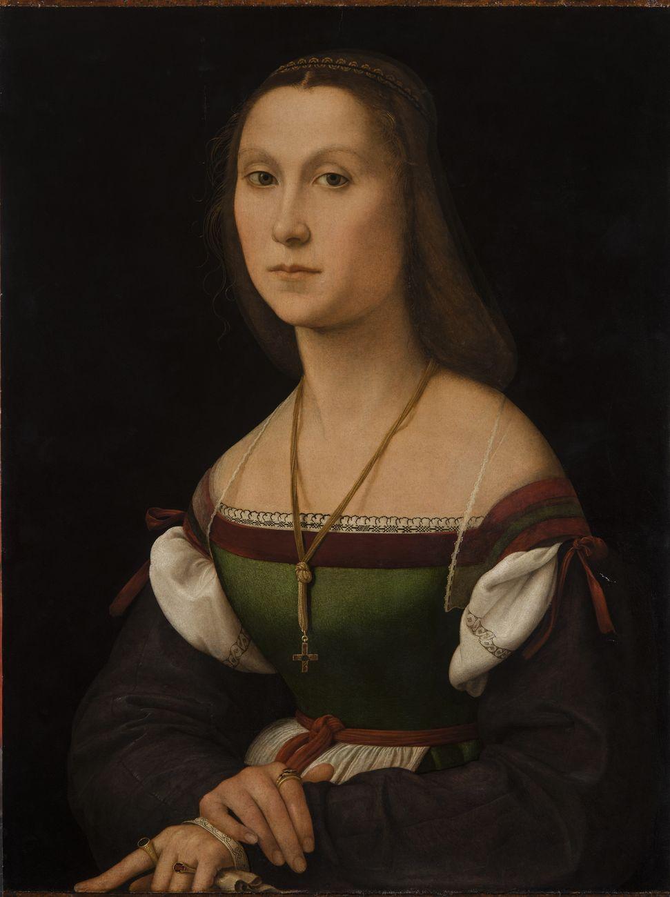 Raffaello Sanzio, La Muta, 1507, olio su tavola. Galleria Nazionale delle Marche, Urbino