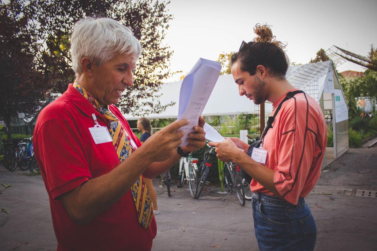 Simon Wilkinson e Myra Appannah, BriGHTBLACK. PerAspera Festival, Bologna 2019. Photo Grazia Perilli