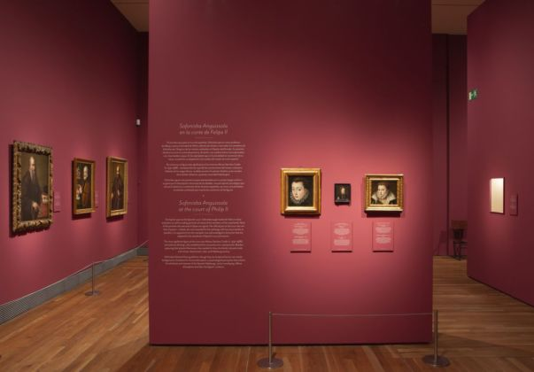 Sofonisba Anguissola & Lavinia Fontana. Exhibition view at Museo del Prado, Madrid 2019