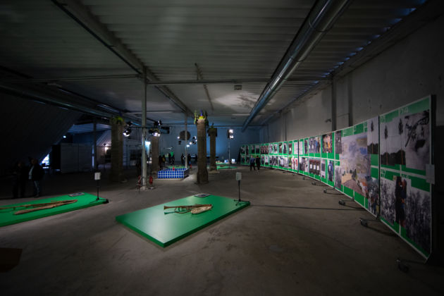 The Land of Cockaigne _ Il paese della Cuccagna. Exhibition view at Cava Paradiso, Matera 2019. Photo Pierangelo Laterza