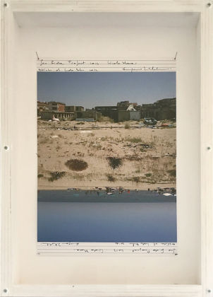 Eugenio Tibaldi; Seaside, series, 2013; 5 photographic composition and notes; 34 x 50 x 5 cm (each frame); courtesy the artist. Photo courtesy the artist