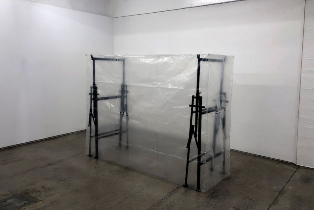 Gian Maria Tosatti; Void #02, 2019; metal, Plexiglas and plastic; 176 x 224 x 80 cm; courtesy Lia Rumma Gallery, Milan / Naples. Photo courtesy the artist