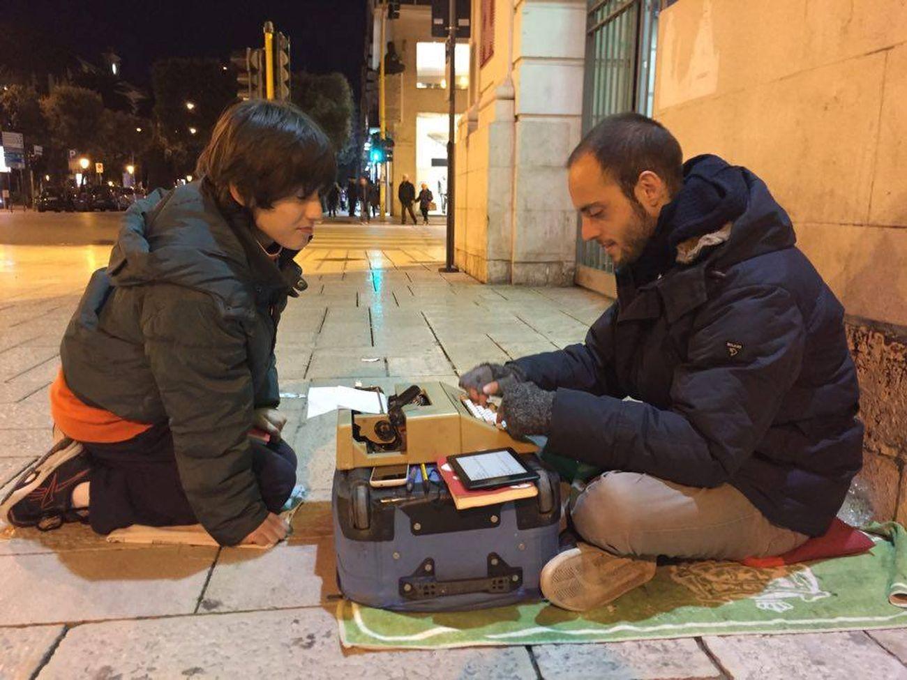 Walter Lazzarin, Bari, Piazza del Ferrarese, marzo 2016