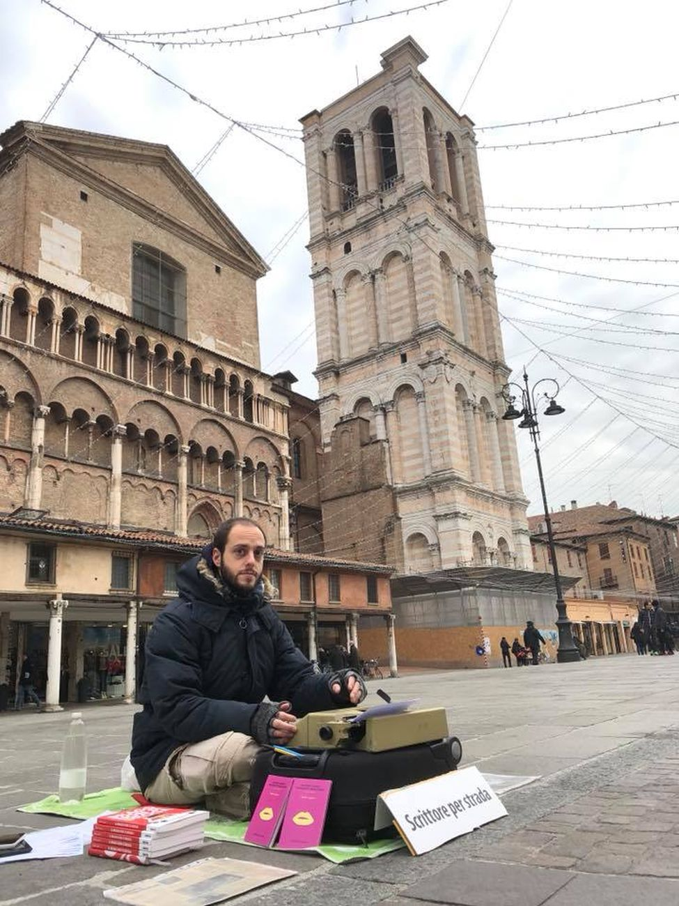 Walter Lazzarin, Ferrara, Piazza Trento e Trieste, gennaio 2018