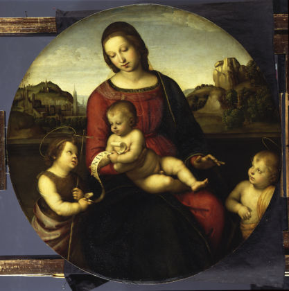 Raphael, Terranuova Madonna Tempera and oil on wood, 28.5 × 21.5 cm Staatliche Museen, Berlin © Staatliche Museen zu Berlin, Gemäldegalerie, Photo: Jörg P. Ander