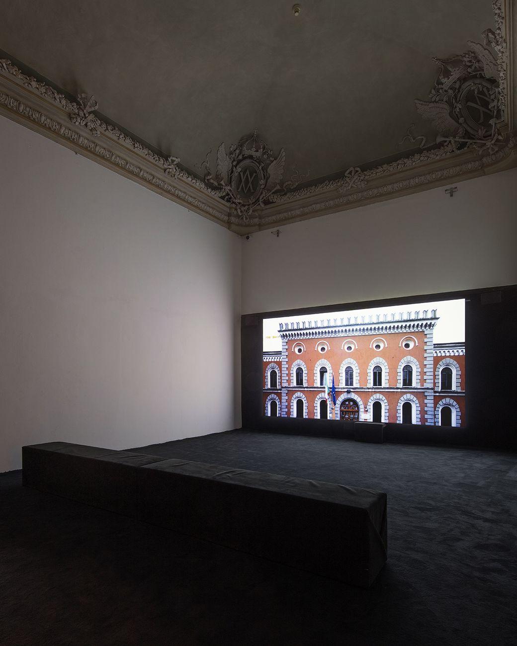 Yuri Ancarani, San Vittore, 2018. Installation view at Castello di Rivoli Museo d'Arte Contemporanea. Photo Antonio Maniscalco. Courtesy Castello di Rivoli Museo d'Arte Contemporanea, Rivoli-Torino