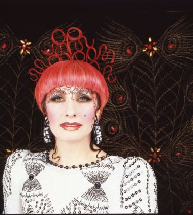 Zandra Rhodes' photo for the poster for the SS 1986 'Spanish Impressions' collection. Photo Robyn Beeche