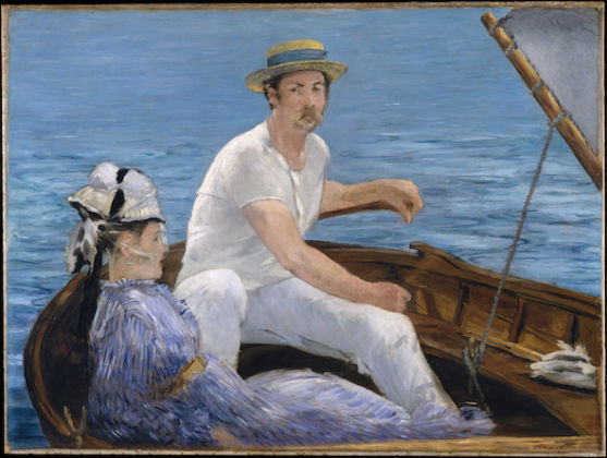 Édouard Manet French, 1832 - 1883 Boating, 1874-1875 Oil on canvas Unframed: 97.2 × 130.2 cm (38 1/4 × 51 1/4 in.) The Metropolitan Museum of Art, H. O. Havemeyer Collection, Bequest of Mrs. H.O. Havemeyer, 1929 (29.100.115) Image: www.metmuseum.org, CCO EX.2019.3.78