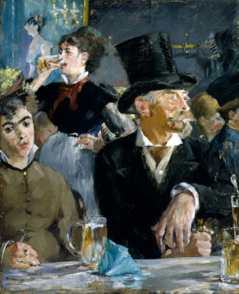 Édouard Manet French, 1832 - 1883 The Cafe-Concert, about 1878-1879 Oil on canvas. Unframed: 47.3 × 39.1 cm (18 5/8 × 15 3/8 in.) The Walters Art Museum, Baltimore, Maryland, 37.893 EX.2019.3.53