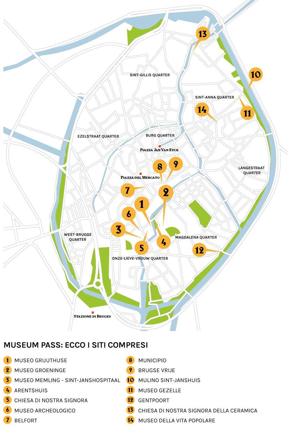 Mappa di Bruges (c) Artribune Magazine