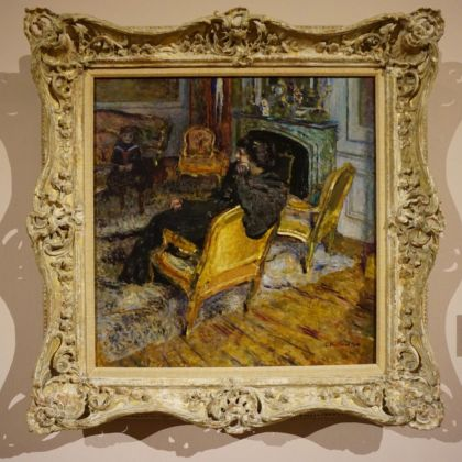 Édouard Vuillard, La sedia dorata, Madame Georges Feydeau e suo figlio, 1906. Collection of Mr. and Mrs. Paul Mellon. Photo Serena Tacchini