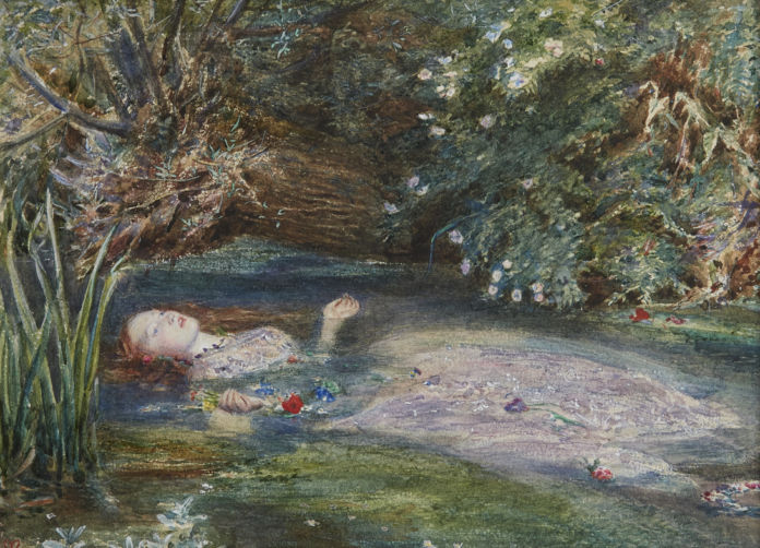Elizabeth Siddal is the model in Ophelia by John Everett Millais, 1865-66. Private Collection