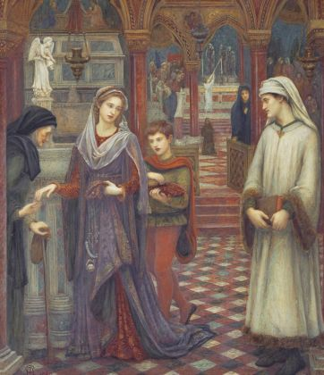 The First Meeting of Petrarch and Laura by Marie Spartali Stillman, 1889. Private Collection. Courtesy of Peter and Renate Nahum