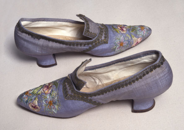 Embroidered Shoes by Marie Spartali Stillman. Delaware Art Museum, Gift of Eugenia Diehl Pell, 2016