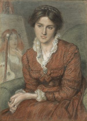 Marie Spartali by Ford Madox Brown, 1869. Private Collection;