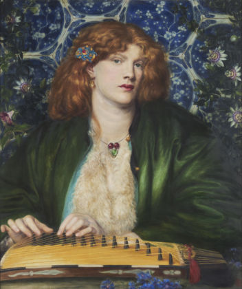 Fanny Cornforth is the model for The Blue Bower by Dante Gabriel Rossetti, 1865, The Henry Barber Trust, the Barber Institute of Fine Arts, University of Birmingham