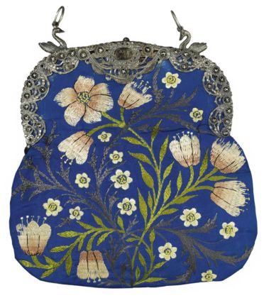 Evening Bag Stitched by Jane Morris, c.1878. Victoria and Albert Museum, London. Bequeathed by May Morris. Image © Victoria and Albert Museum, London;