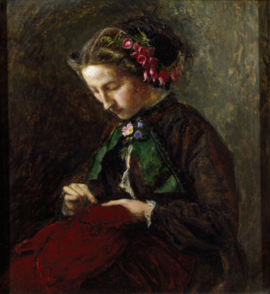Effie with Foxgloves in her Hair (The Foxglove) by John Everett Millais, 1853. National Trust Collections, Wightwick Manor and Gardens, Warwickshire. © National Trust Images / Derrick E. Witty