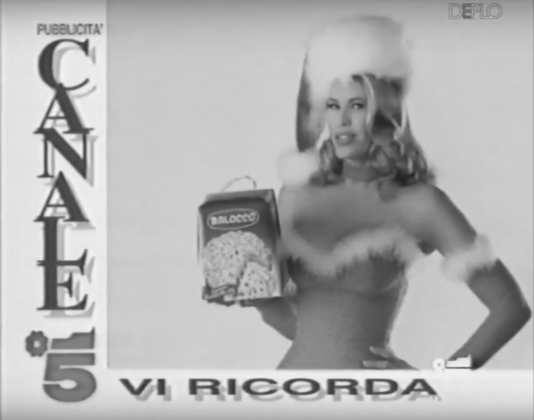 Jacopo Miliani, Video still of Balocco TV commercial with the testimonial Wendy Windham, 1992